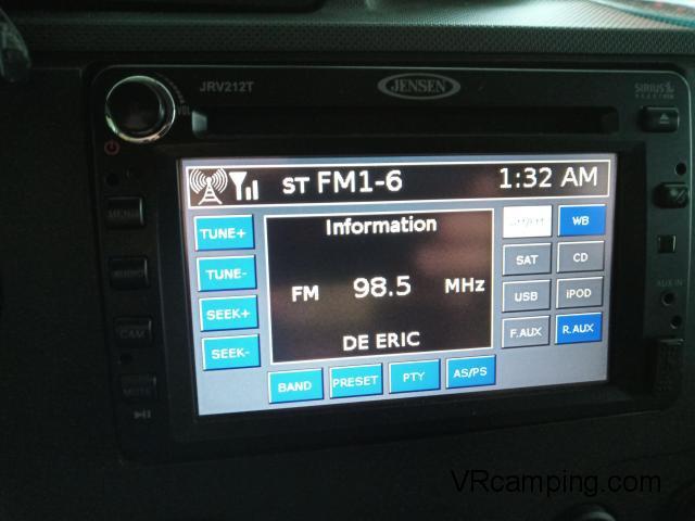 Radio pour VR Motorisé campeur Jensen camera recule